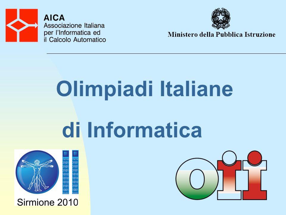 Olimpiadi Italiane di Informatica Ministero della Pubblica Istruzione