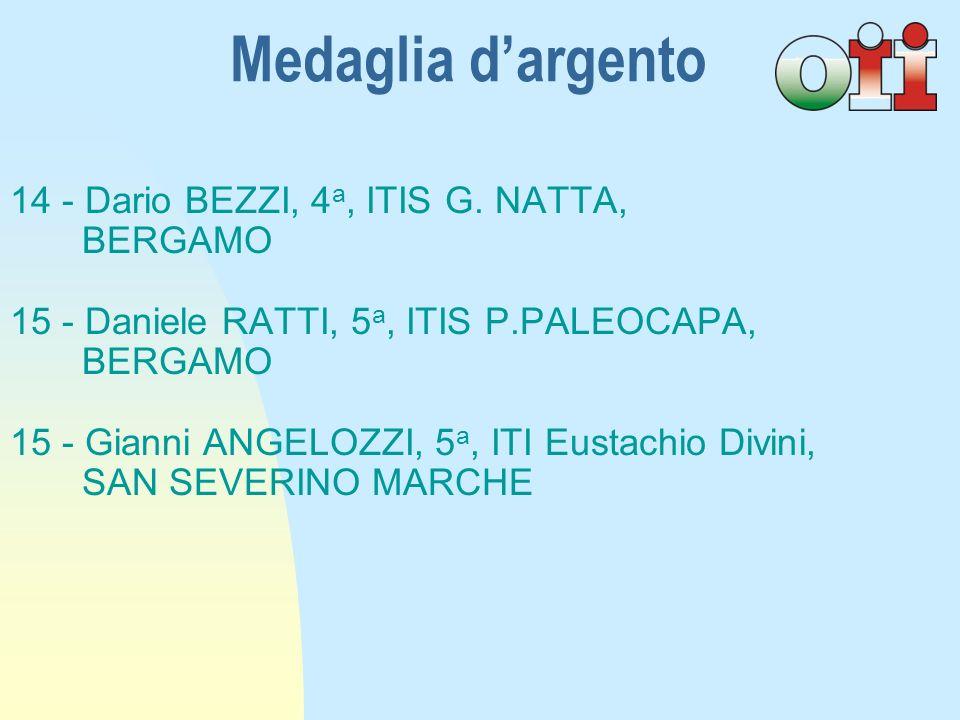 14 - Dario BEZZI, 4 a, ITIS G.