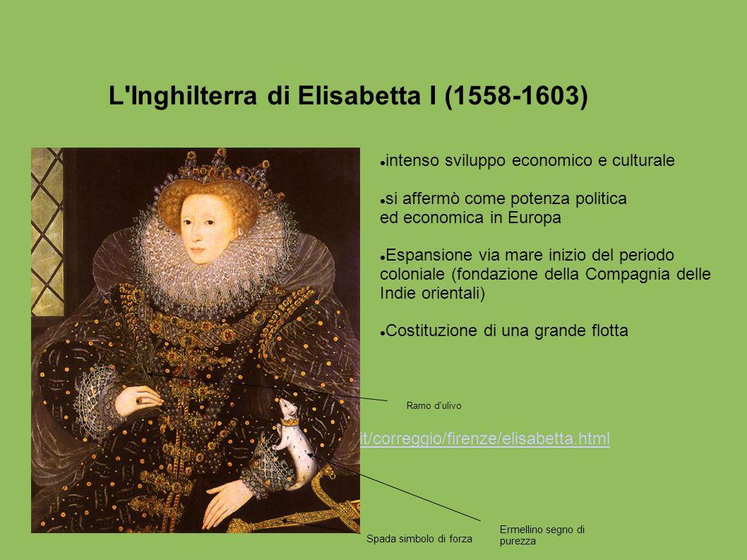 L'Inghilterra di Elisabetta I (1558-1603) intenso sviluppo economico e culturale si affermò come potenza politica ed economica in Europa Espansione vi