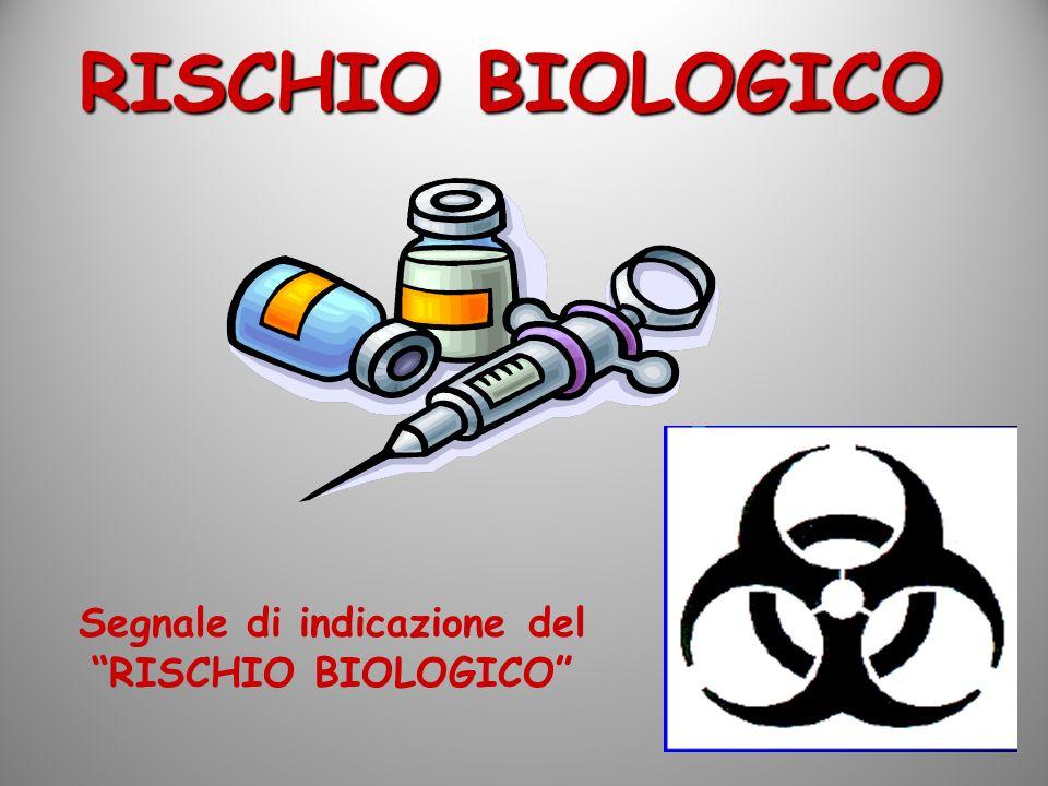 Segnale di indicazione del RISCHIO BIOLOGICO RISCHIO BIOLOGICO