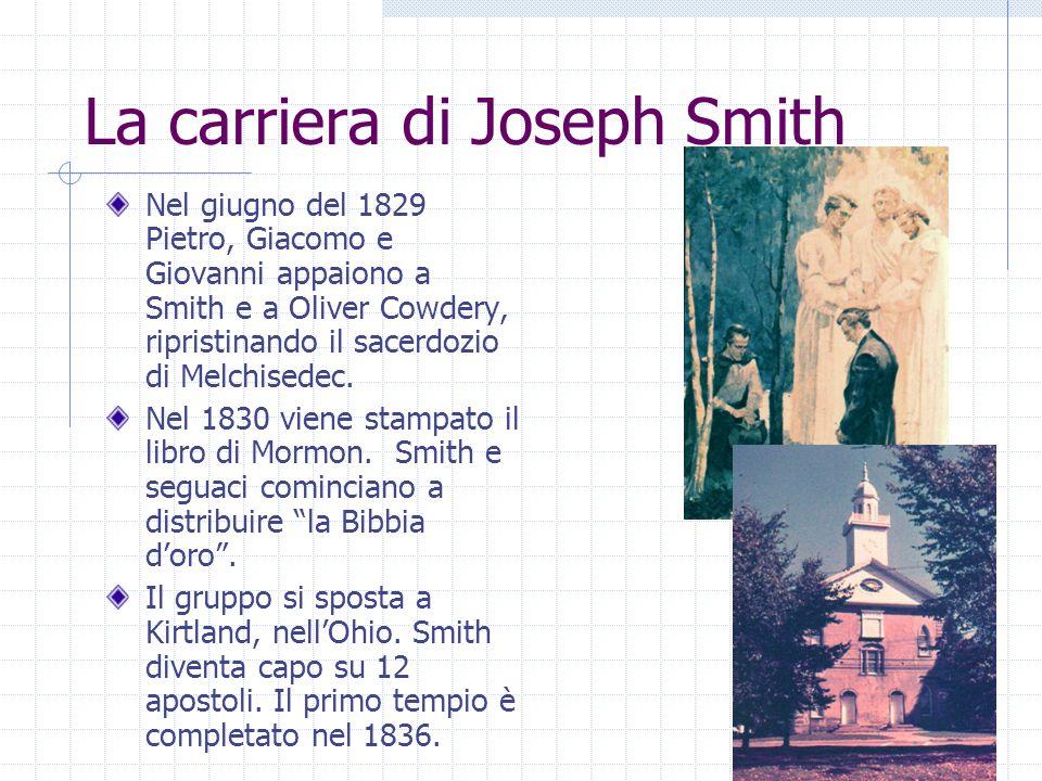 Nel giugno del 1829 Pietro, Giacomo e Giovanni appaiono a Smith e a Oliver Cowdery, ripristinando il sacerdozio di Melchisedec.
