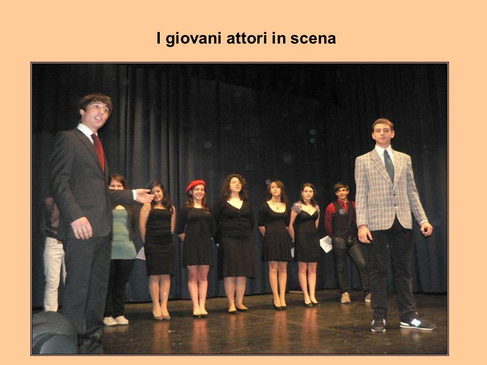 I giovani attori in scena