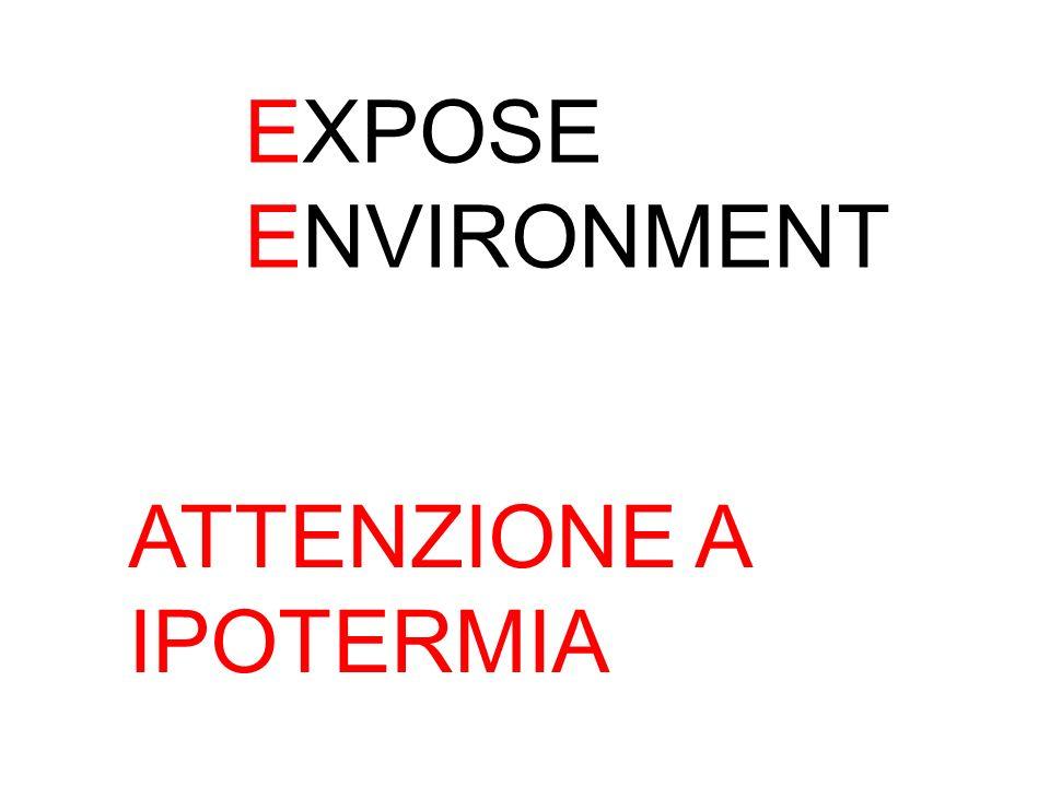 EXPOSE ENVIRONMENT ATTENZIONE A IPOTERMIA