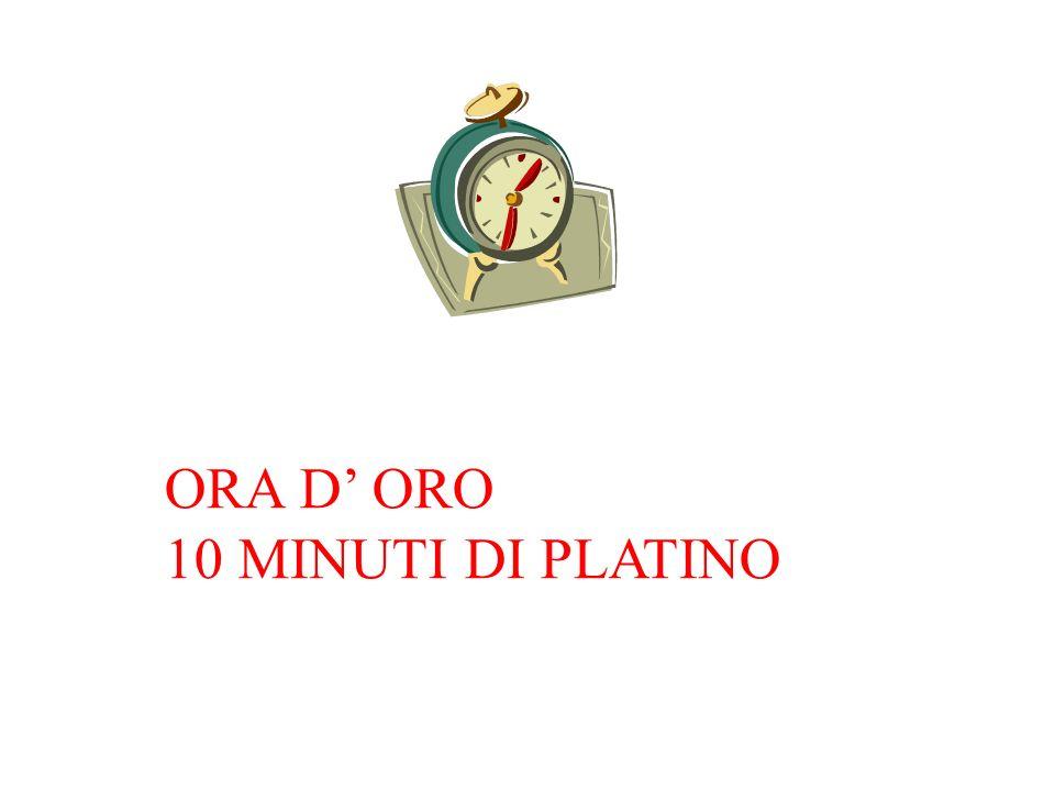 ORA D ORO 10 MINUTI DI PLATINO