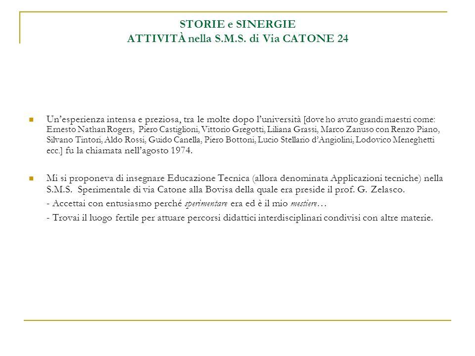 SINERGIA 1 - classi 1° - Casa / Quartiere docenti di Lettere/Comunicazione e di Educazione Tecnica (m.