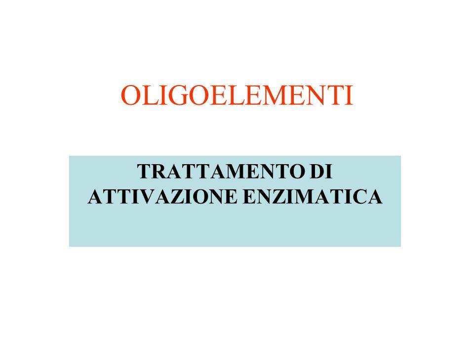 OLIGOELEMENTI TRATTAMENTO DI ATTIVAZIONE ENZIMATICA