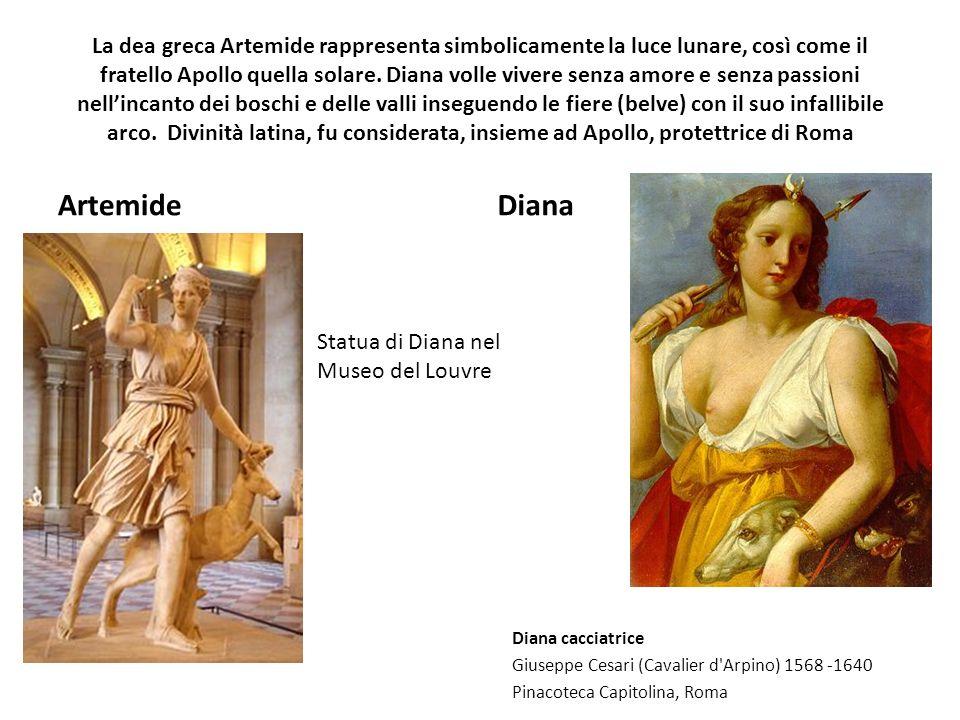 La dea greca Artemide rappresenta simbolicamente la luce lunare, così come il fratello Apollo quella solare. Diana volle vivere senza amore e senza pa