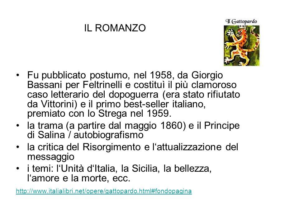 IL ROMANZO Fu pubblicato postumo, nel 1958, da Giorgio Bassani per Feltrinelli e costituì il più clamoroso caso letterario del dopoguerra (era stato r