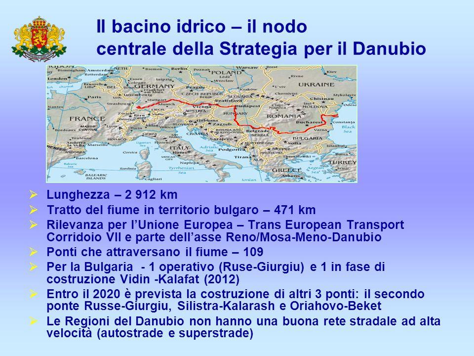 Strategia per il Danubio – strategia macroregionale – nuovo approccio per lo sviluppo della regione Ideata durante il turno di presidenza EU dellUngheria – 24 Giugno 2011 14 paesi partecipanti– 8 stati membri e 6 stati non membri 4 temi principali – connettività, ambiente, incremento delledilizia, potenziamento regionale 11 aree prioritarie adottate col piano dazione – 2 paesi coordinatori per area prioritaria Contribuisce alla cooperazione regionale tra i paesi della regione del Danubio e collabora al conseguimento degli obiettivi della Politica di Coesione.