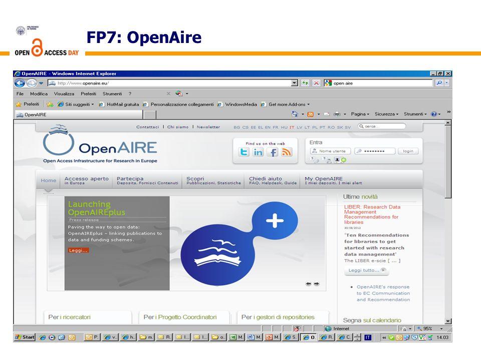 FP7: OpenAire
