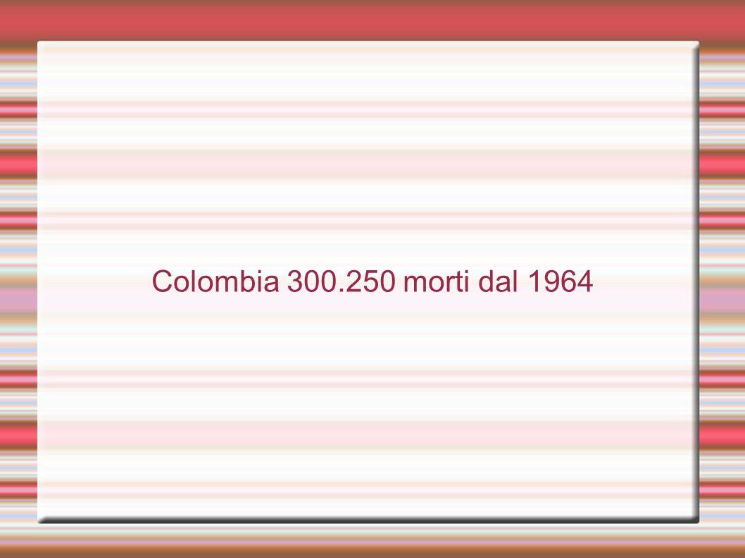 Colombia 300.250 morti dal 1964