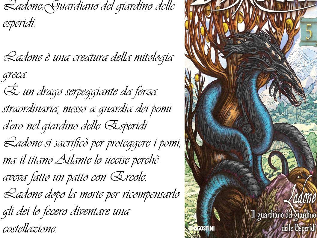 Ladone:Guardiano del giardino delle esperidi.Ladone è una creatura della mitologia greca.