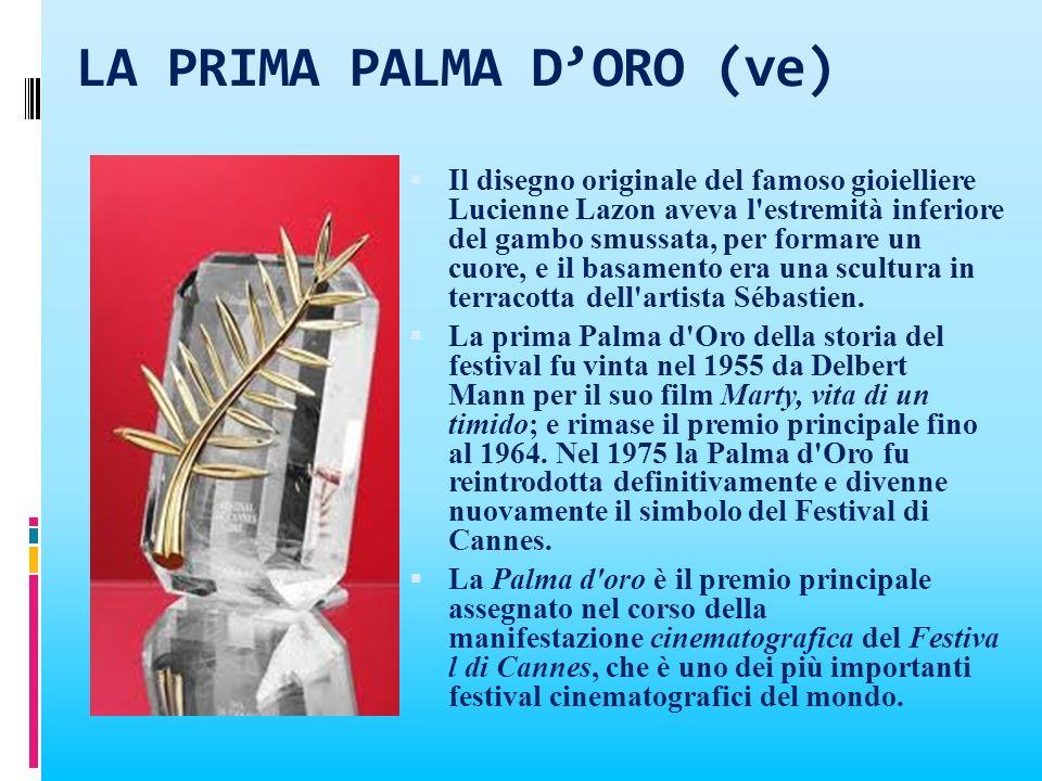 LA PRIMA PALMA DORO (ve) Il disegno originale del famoso gioielliere Lucienne Lazon aveva l'estremità inferiore del gambo smussata, per formare un cuo