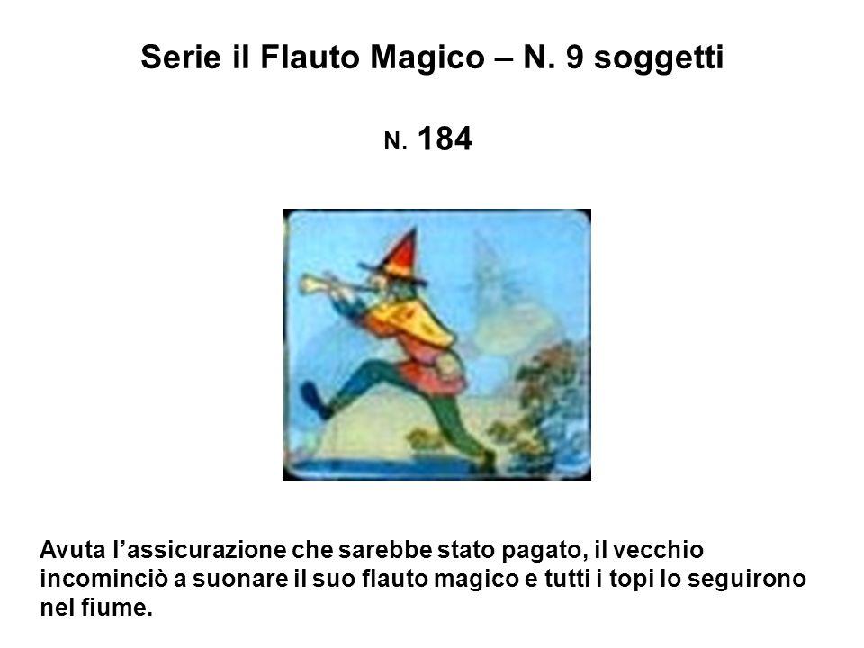 Serie il Flauto Magico – N.9 soggetti N. 185 La città fu liberata dai topi.
