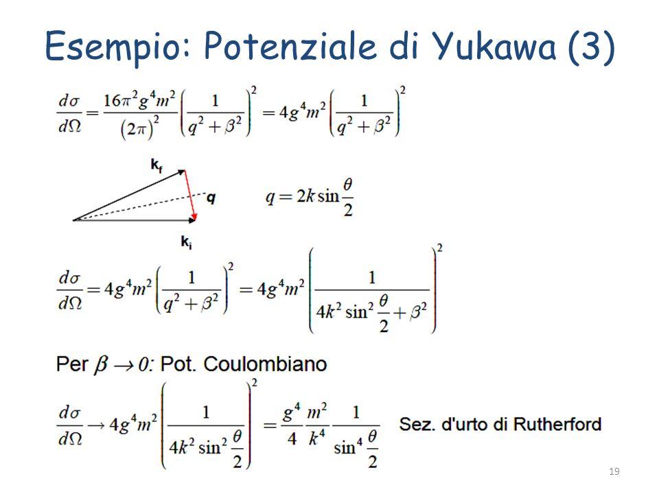 Esempio: Potenziale di Yukawa (3) Fabrizio Bianchi19