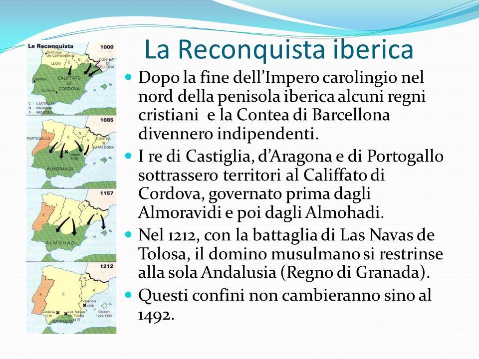La Reconquista iberica Dopo la fine dellImpero carolingio nel nord della penisola iberica alcuni regni cristiani e la Contea di Barcellona divennero i