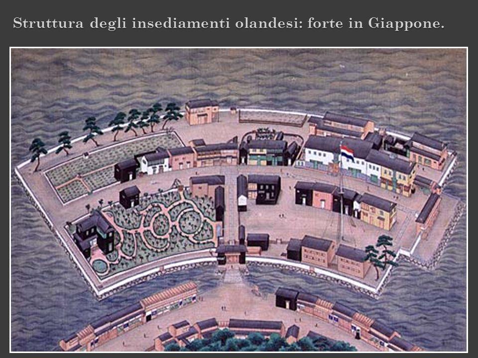 Struttura degli insediamenti olandesi: forte in Giappone.