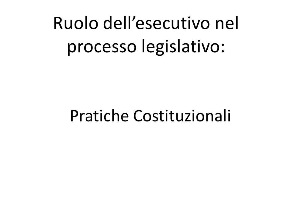 Opinione di due presidenti del consiglio insoddisfatti: D Alema: Il governo in Italia è un istituzione assolutamente debole, un vaso di coccio se confrontato con i sistemi che funzionano nei Paesi nostri partner.