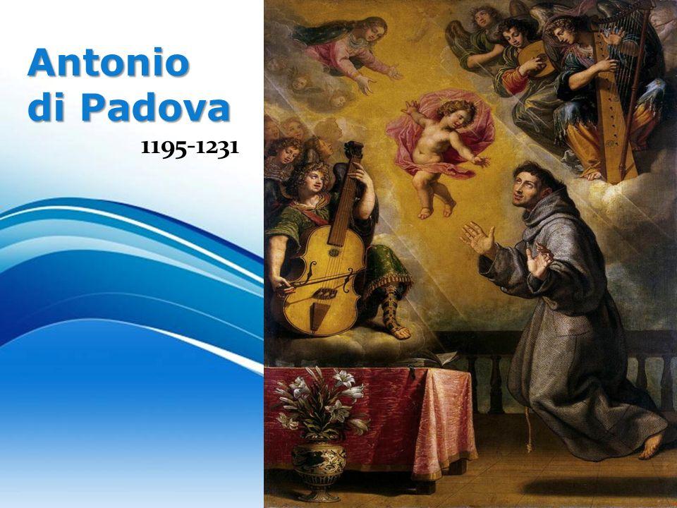 Free Powerpoint TemplatesAntonio di Padova 1195 1231