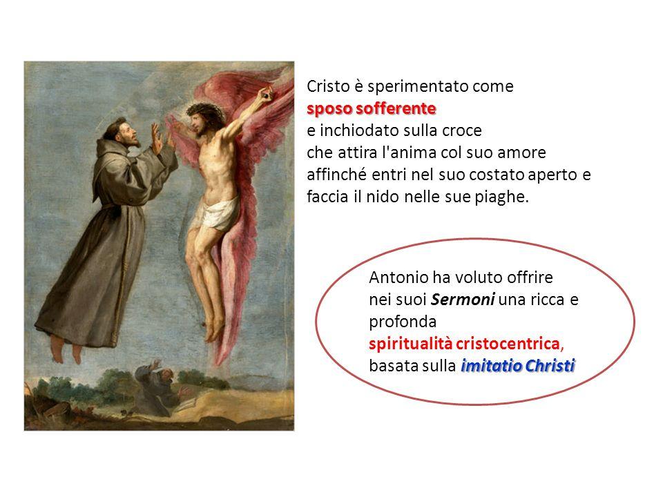 Cristo è sperimentato come sposo sofferente e inchiodato sulla croce che attira l'anima col suo amore affinché entri nel suo costato aperto e faccia i