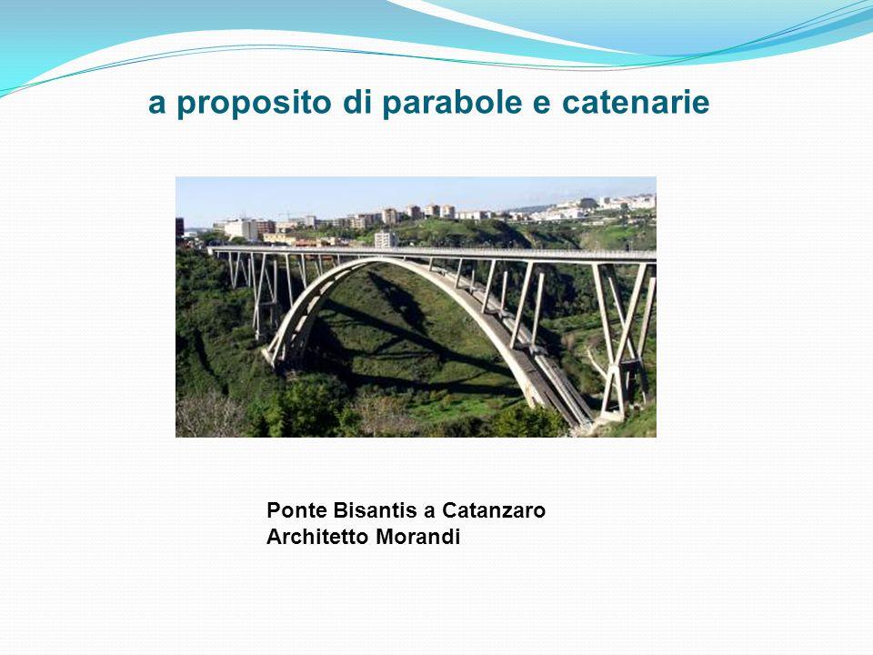 a proposito di parabole e catenarie Ponte Bisantis a Catanzaro Architetto Morandi