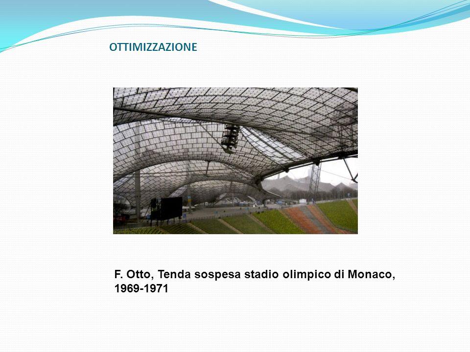 OTTIMIZZAZIONE F. Otto, Tenda sospesa stadio olimpico di Monaco, 1969-1971