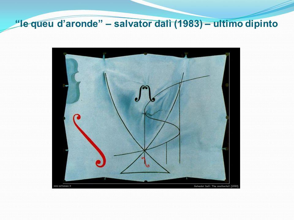 le queu daronde – salvator dalì (1983) – ultimo dipinto