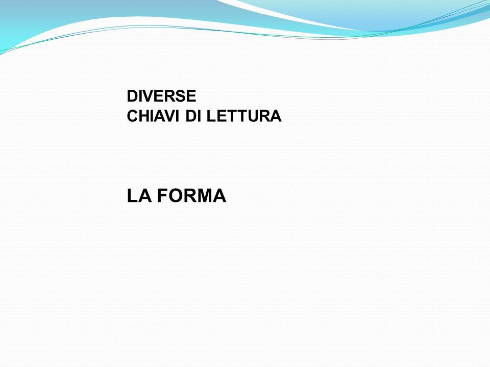DIVERSE CHIAVI DI LETTURA LA FORMA