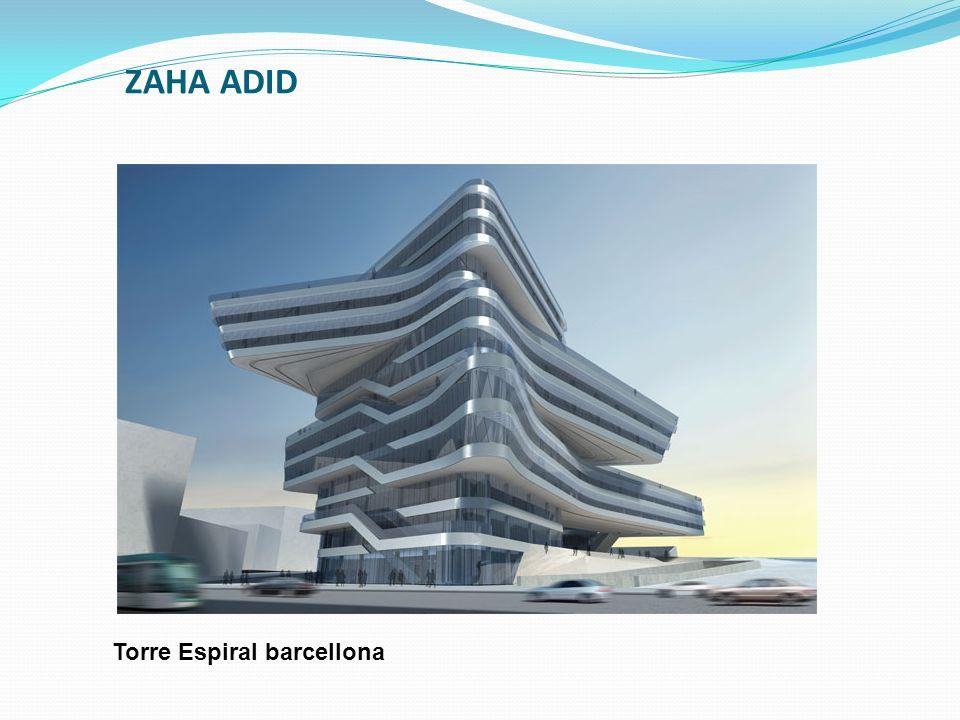 ZAHA ADID Torre Espiral barcellona