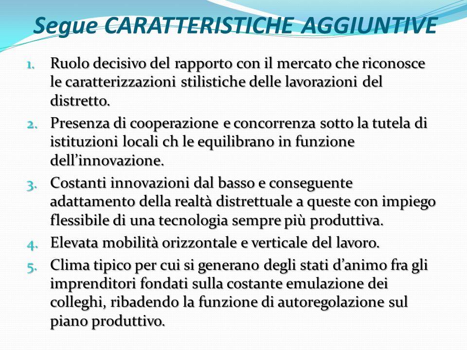 Segue CARATTERISTICHE AGGIUNTIVE 1.