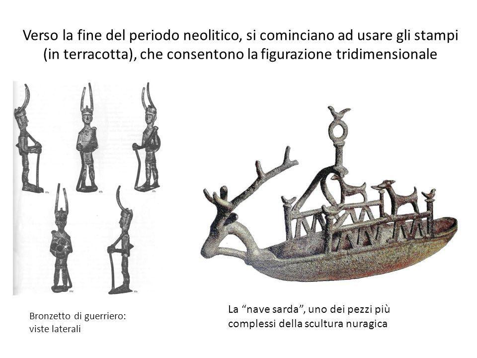 Verso la fine del periodo neolitico, si cominciano ad usare gli stampi (in terracotta), che consentono la figurazione tridimensionale Bronzetto di gue