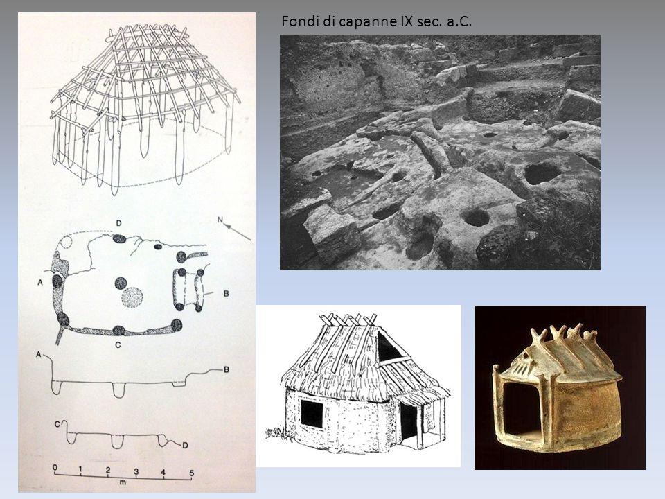 Fondi di capanne IX sec. a.C.