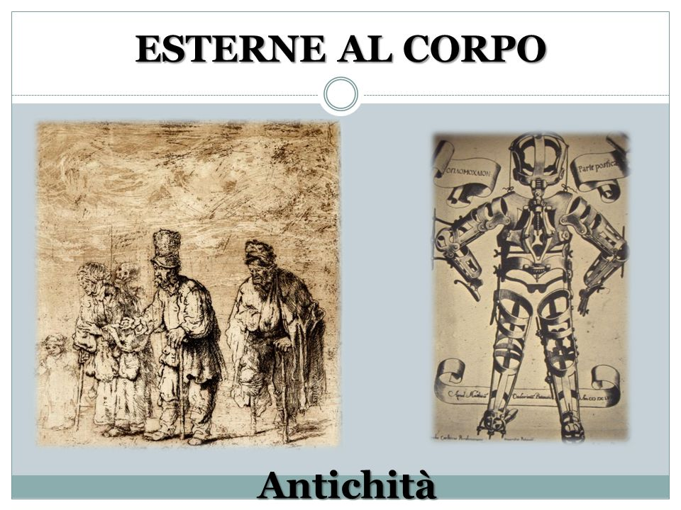 ESTERNE AL CORPO Antichità