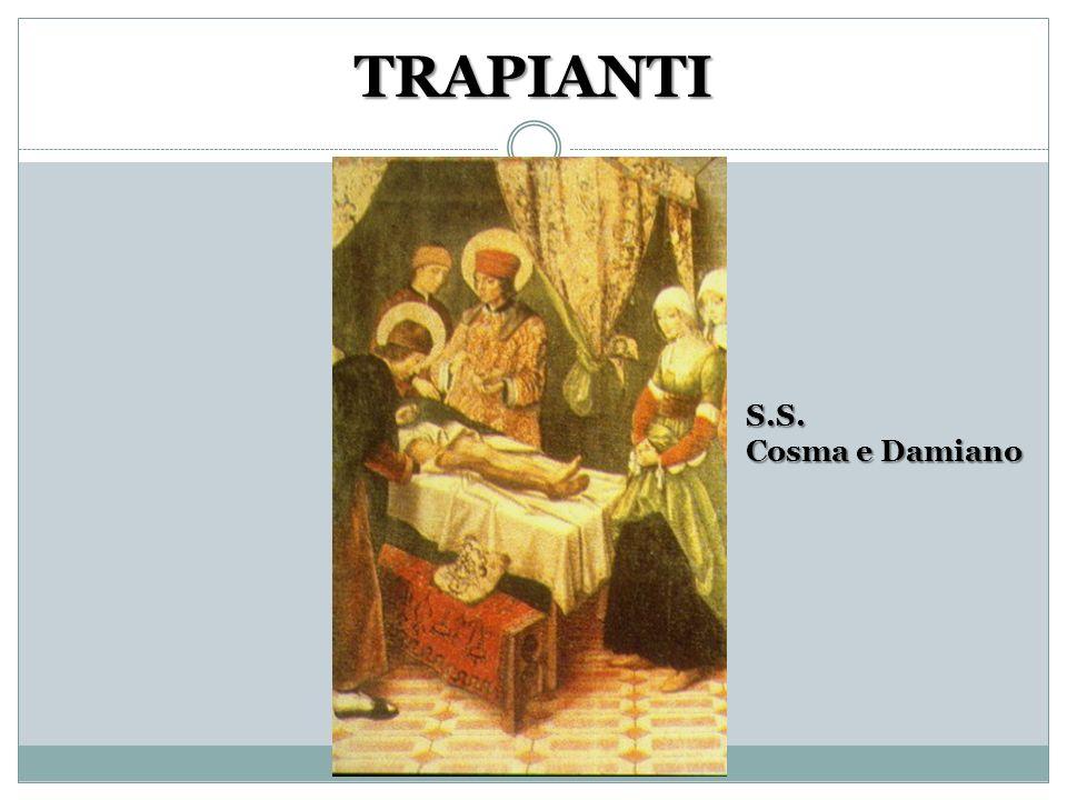 TRAPIANTI S.S. Cosma e Damiano