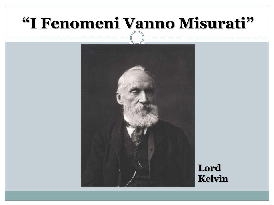 I Fenomeni Vanno Misurati LordKelvin
