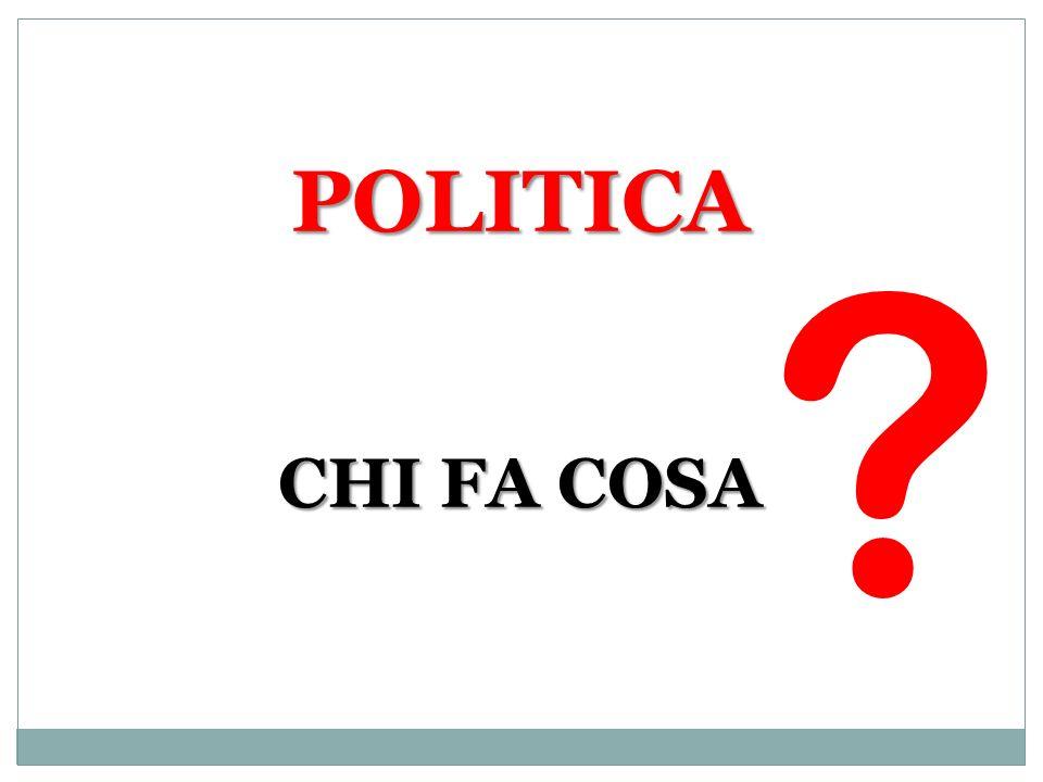 POLITICA CHI FA COSA ?