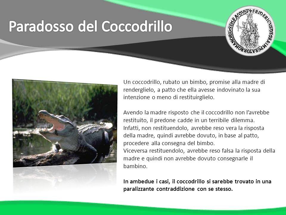 Un coccodrillo, rubato un bimbo, promise alla madre di renderglielo, a patto che ella avesse indovinato la sua intenzione o meno di restituirglielo. A