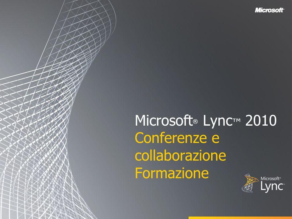 Microsoft ® Lync 2010 Conferenze e collaborazione Formazione