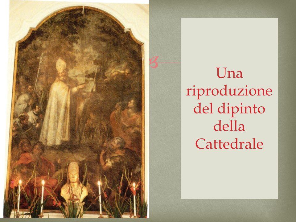 Una riproduzione del dipinto della Cattedrale
