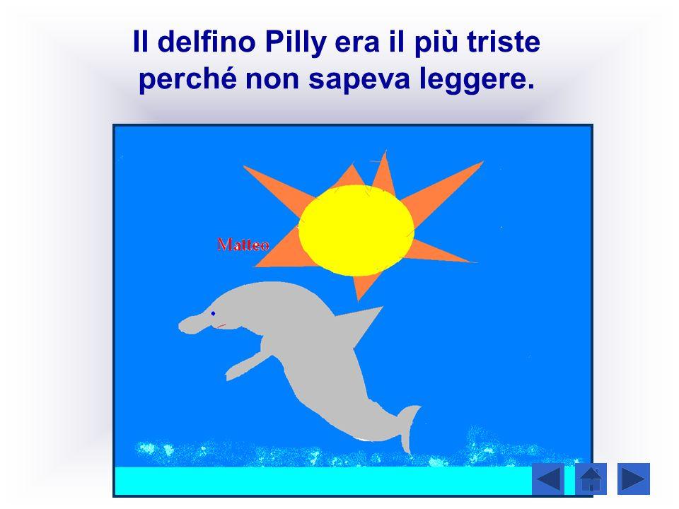 Il delfino Pilly era il più triste perché non sapeva leggere.