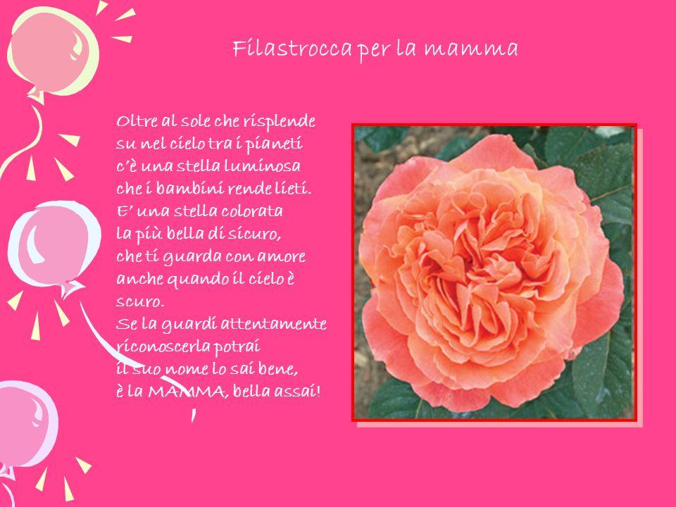 Oggi è la tua festa, ti offro baci e fiori, grazie, mamma, per il tuo immenso amore.