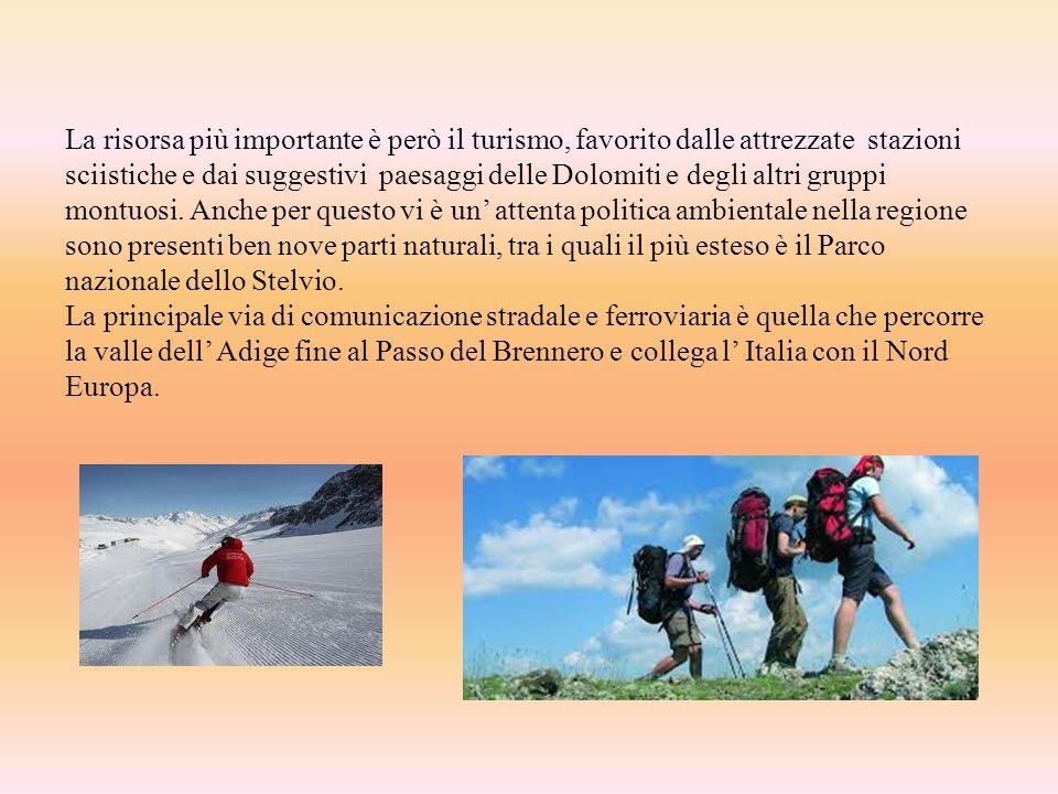 La risorsa più importante è però il turismo, favorito dalle attrezzate stazioni sciistiche e dai suggestivi paesaggi delle Dolomiti e degli altri grup