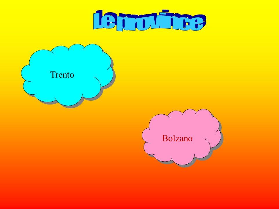 Trento è il capoluogo del Trentino- Alto Adige ed una delle poche province.