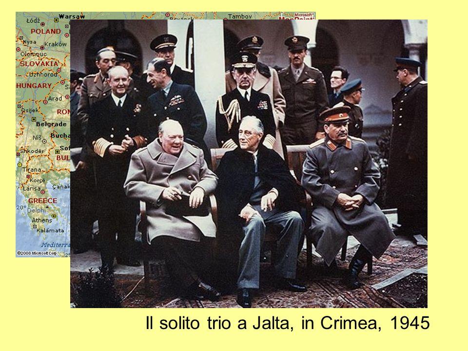Il solito trio a Jalta, in Crimea, 1945