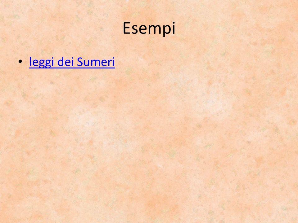 Esempi leggi dei Sumeri