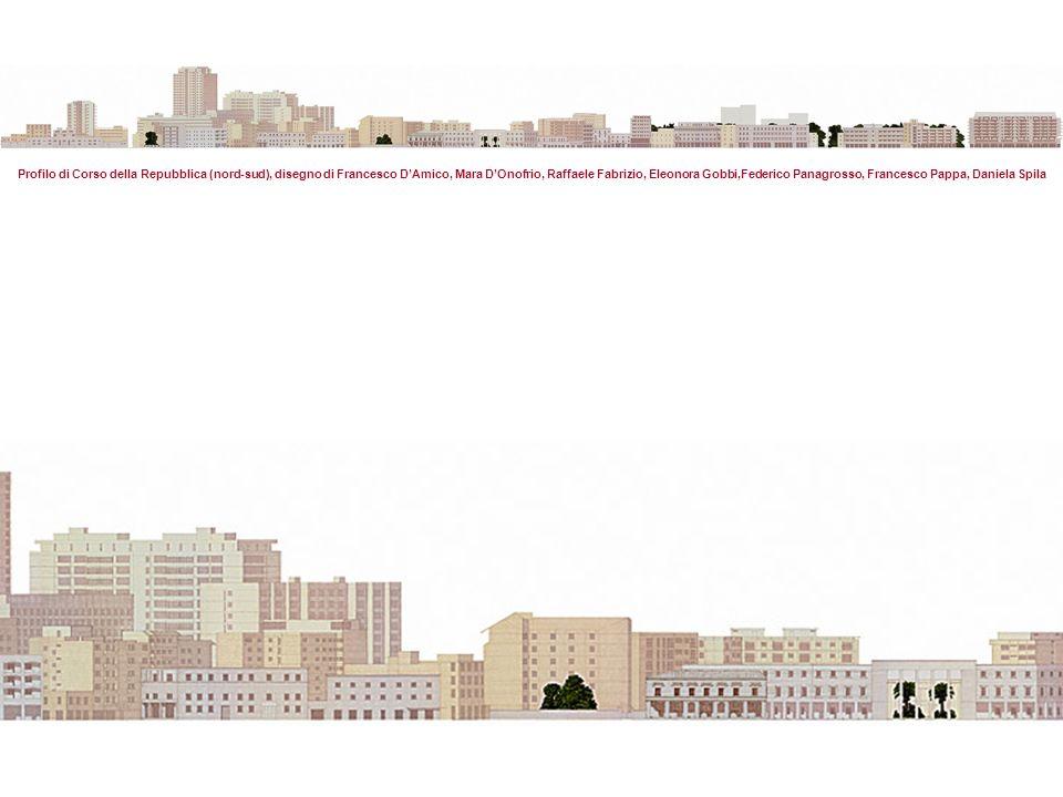Profilo di Corso della Repubblica (nord-sud), disegno di Francesco DAmico, Mara DOnofrio, Raffaele Fabrizio, Eleonora Gobbi,Federico Panagrosso, Francesco Pappa, Daniela Spila