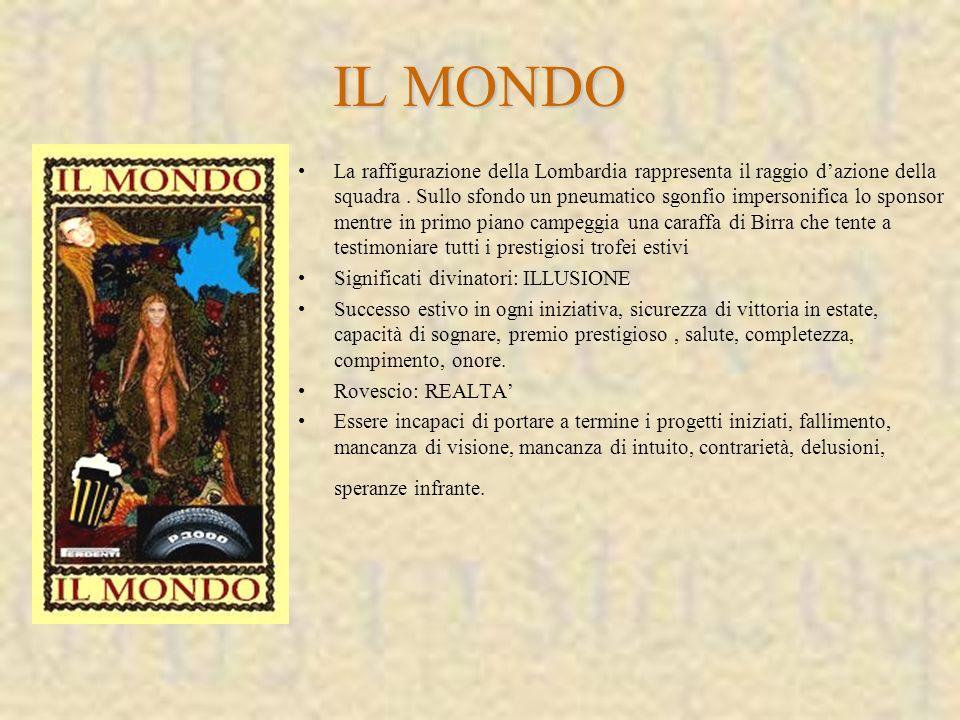 La raffigurazione della Lombardia rappresenta il raggio dazione della squadra.