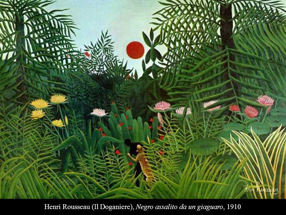 Henri Rousseau (Il Doganiere), Negro assalito da un giaguaro, 1910