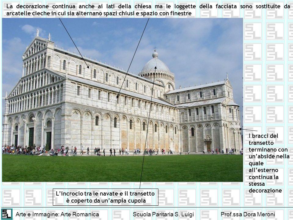 Arte e Immagine: Arte RomanicaScuola Paritaria S. LuigiProf.ssa Dora Meroni La decorazione continua anche ai lati della chiesa ma le loggette della fa