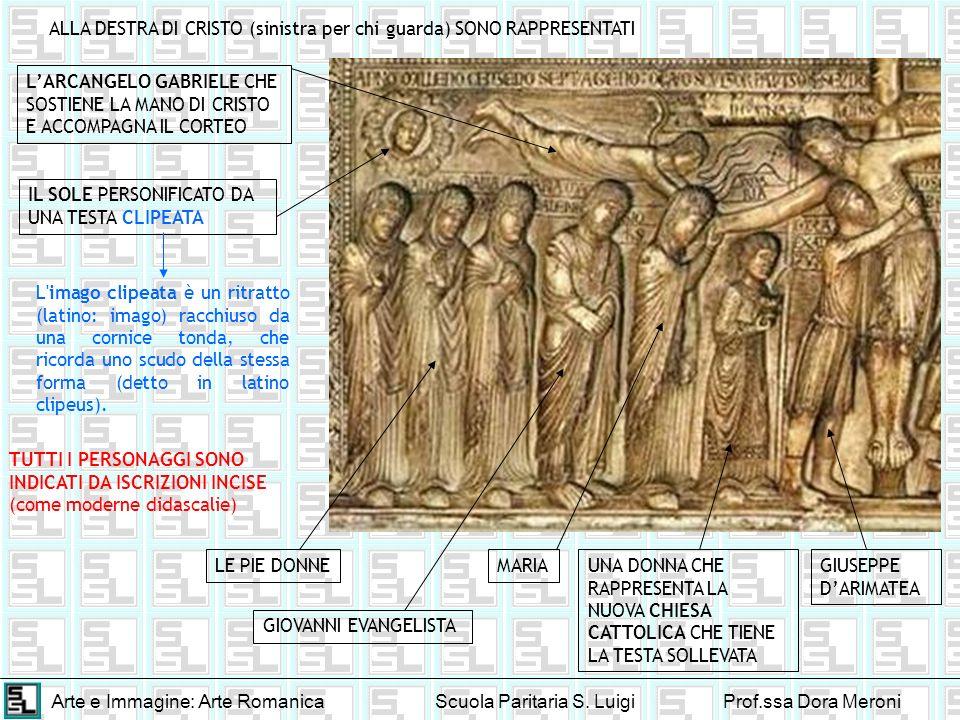 Arte e Immagine: Arte RomanicaScuola Paritaria S. LuigiProf.ssa Dora Meroni ALLA DESTRA DI CRISTO (sinistra per chi guarda) SONO RAPPRESENTATI IL SOLE